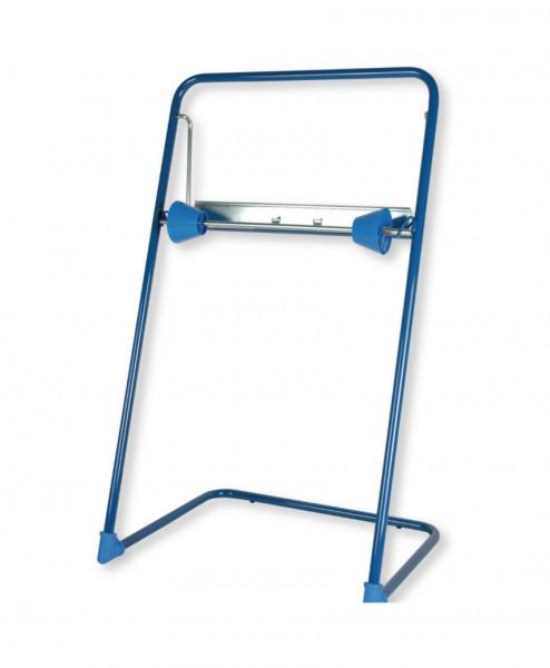 162401 Bodenständer für Putzrollen, bis 40 cm Rollen, mit Abreißkante, Metall, blau