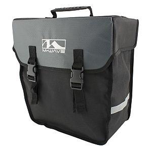 13222 Seitentasche Amsterdam Single, 18 Liter, schwarz-grau, LINKS