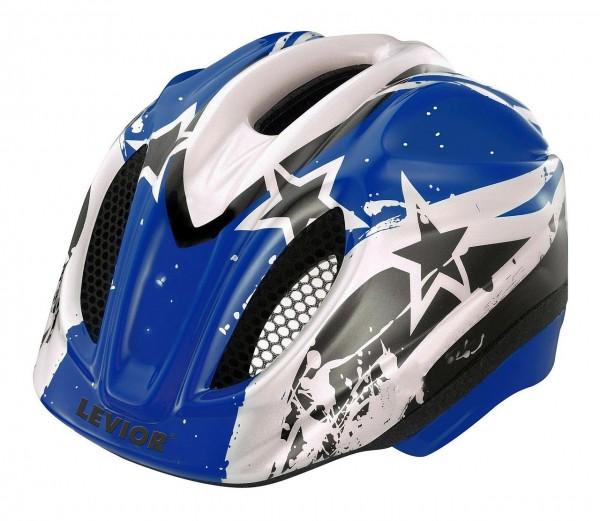 33924 Kinder Fahrradhelm Blue Stars, Primo, Größe S (46-51 cm), Reflektor, Quicksafe, MaxShell, blau