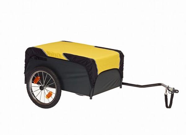 500723 Fahrradanhänger Traveller, Tragkraft 40/ 90 KG, 130 Liter Volumen, schwarz-gelb, Roland