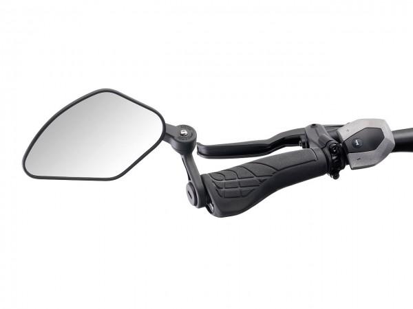 """16649 Fahrradspiegel, KFS-Sport """"Typ B"""", links, Innenklemmung, große Spiegelfläche, schwarz, Krampe"""