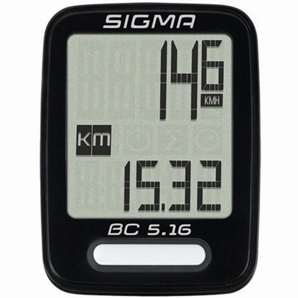 29140 Fahrradcomputer BC 5.16, SIGMA, 5 Funktionen, wired/kabelgebunden