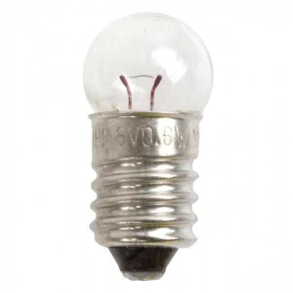 01930 Rücklicht Glühlampe, 6 Volt - 0.6 Watt, Schraubsockel E10