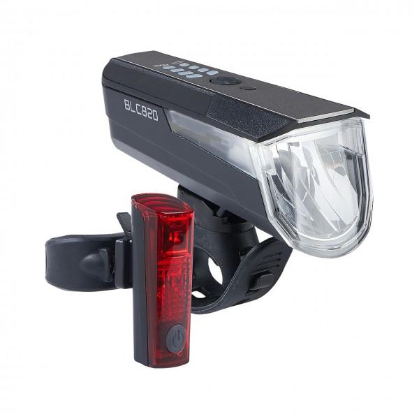 01432 LED USB-Beleuchtungs-Set BLC 820 + DUO Led-Rücklicht, 80 LUX, Osram, STVZO