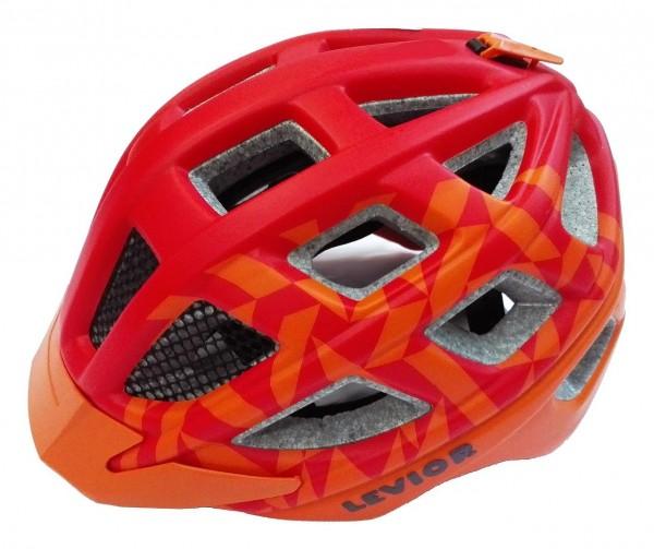 33934 Kinder Jugend Fahrradhelm Kailu, Größe M (53-59 cm), Reflektor, Quicksafe, Visier, red orange