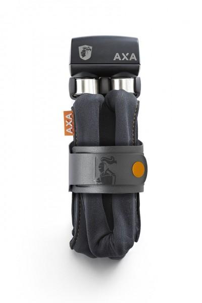 25392 Axa Faltschloss, 800er-Serie, Safety-Index 9, Länge 100 cm, 8 mm, incl Halterung, dunkel-grau
