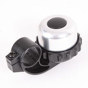 07346 Fahrrad-Glocke, Rotorglocke, SPIN-BELL, Alu/ Kunststoff, silber-schwarz
