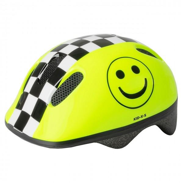 33800 Fahrradhelm SMILE XS, 46-52 cm, Größe XS, Kleinkinderhelm, Ringsystem, leuchtend gelb