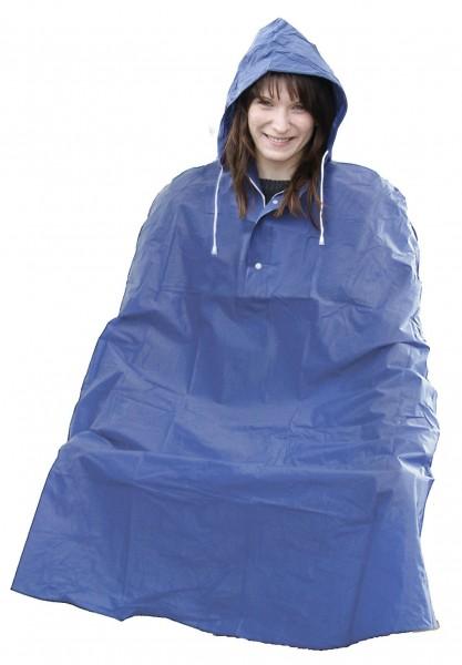 33220 Regencape, wasser- und windabweisend, Universalgröße, farbig sortiert (blau/ gelb)