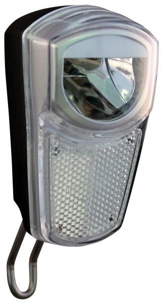 01212 Led-Scheinwerfer, Union, 35 LUX, Schalter für Nabendynamo, geblistert