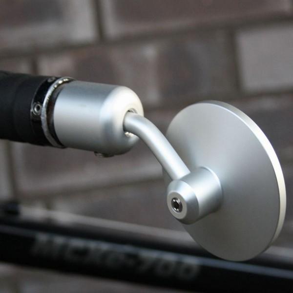 Fahrradspiegel, universell verstellbar, Innenklemmung, 70 mm Ø, Alu, Links/-Rechtsmontage, schwarz
