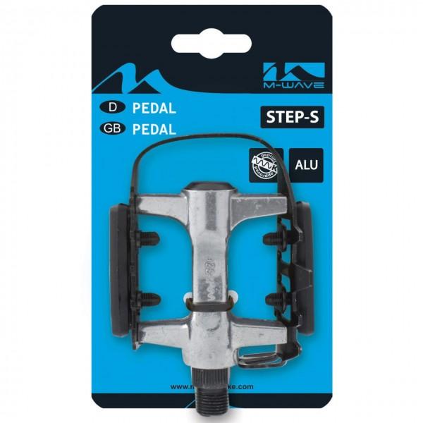 20225 MTB-/ Trekking-Pedal, STEADY-A, Aluminium, Stahlkäfig, Reflektoren, 60x93 mm, schwarz