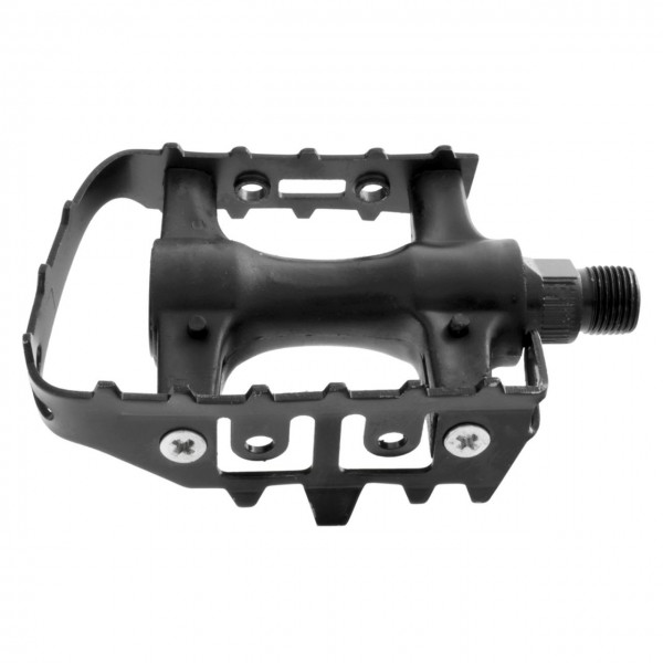 20227 Trekking-/ MTB-Pedal, Kunststoffkörper/ Stahlkäfig, mit Reflektoren, schwarz