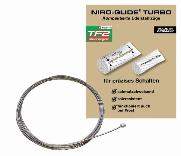 09321 Schalt-Innenzug, Niro-Glide TURBO (TF2 ölversiegelt), 2200 mm, Zylinder-Nippel 4x4, Edelstahl