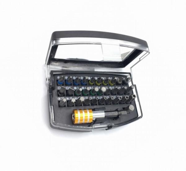 "32252 Bit-Box, 1/4"", farbig markiert, 32 teilig, Schlitz, Kreuz, Pozidriv, Inbus, Torx etc."