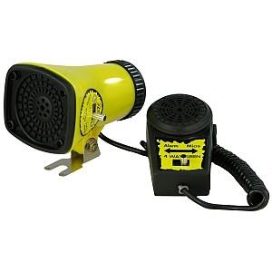 07419 Kojak Sirene, mit Microfon, 3 verschiedene Sounds, gelb