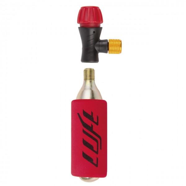 21272 CO 2 Pumpe, wiederverschließbar, dosierbar, Kälteschutz, incl. 16 g Patrone, für SV-AV-DV