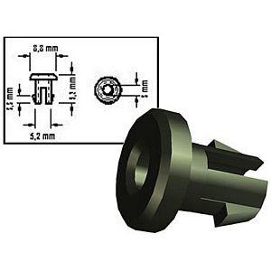 Kabeldurchführung 803/10, Bohrung 5 mm, Material PE, schwarz