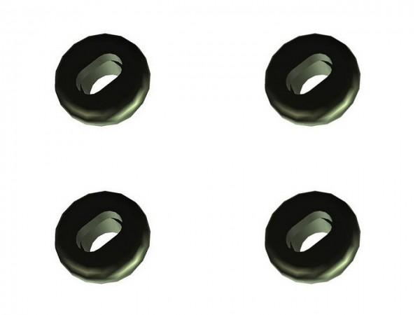 01909 Kabeldurchführung 803/85, 6.5 mm, für Doppelkabel, schwarz