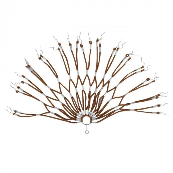 18142 Kleiderschutz/ Spiralgummiwabennetz, doppelt geklammert, braun