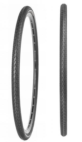 """02255 Fahrrad-Decke 28"""", 37-622 (28 x 1.3/8 - 1.5/8, 700x35C) One-o-One, Reflex, schwarz"""