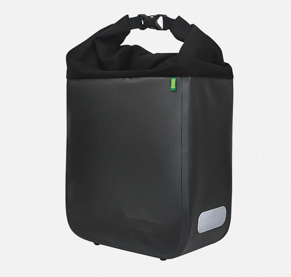 13621 Seitentasche Donna, Rolltasche, Wasserfest, 15 Liter, onyx-schwarz, ebike ready