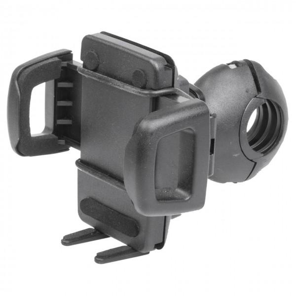 16754 Smartphone Halter-Set, Halter + Lenkerhalter 31.8 mm, für Geräte von 44-78 mm Breite, schwarz