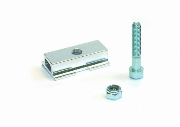 28302 Adapter-platte, Gazelle etc., für schmale Stegplatten, Alu, silber