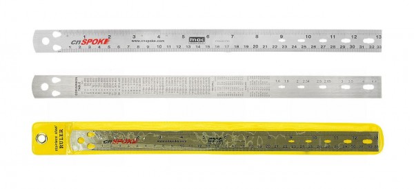 32528 hochwertiges Speichenlineal, aus Edelstahl, präzises Messen der Speichenlänge und Nippelgröße