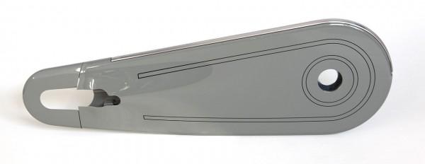 """11184 Kettenkasten Nostalgia, 28"""" - 28x1.1/2"""", geschlossen, Plastik, grau - schwarz liniert"""