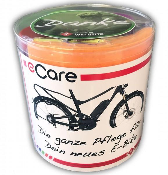 E-Care, E-Bike Pflegeserie von Weldtite, Kontaktspray, Kettenöl, Kettenentfetter, Rahmenreiniger etc