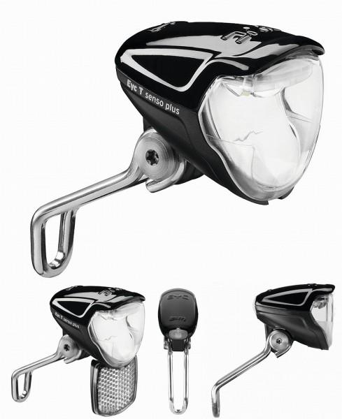 "01245 Scheinwerfer Eyc ""E"", 50 Lux, E-Bikes, 6-42 Volt, Nahfeld, Rücklichtanschluss"