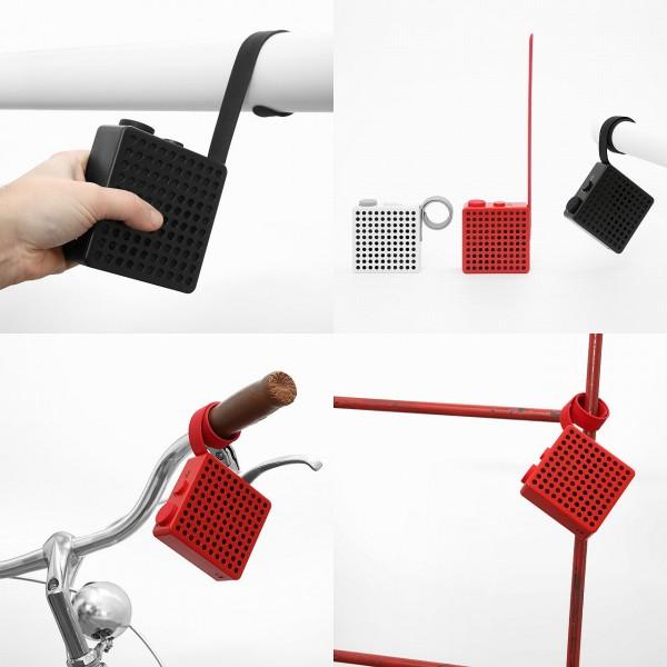 Palomar Monkey Radio/ Fahrrad-Radio mit Bluetooth-Funktion, Wasserdicht, Lithium.Ionen-Akku, in schw