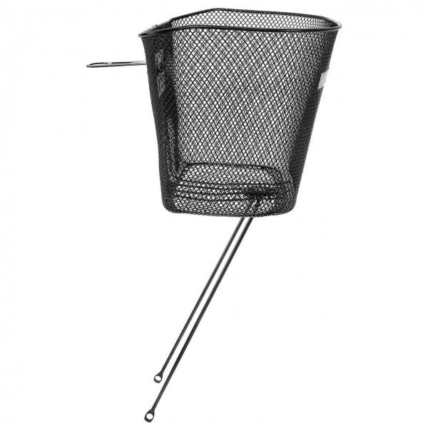 14101 Vorderrad-Korb, feinmaschig, mit Strebe und Halter, schwarz