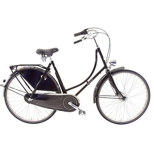 901360E Rossborn Plezier Nostalgie, Shimano Nabendynamo+Rollerbrake, Shimano 3 Gang, Damen, 60cm, El