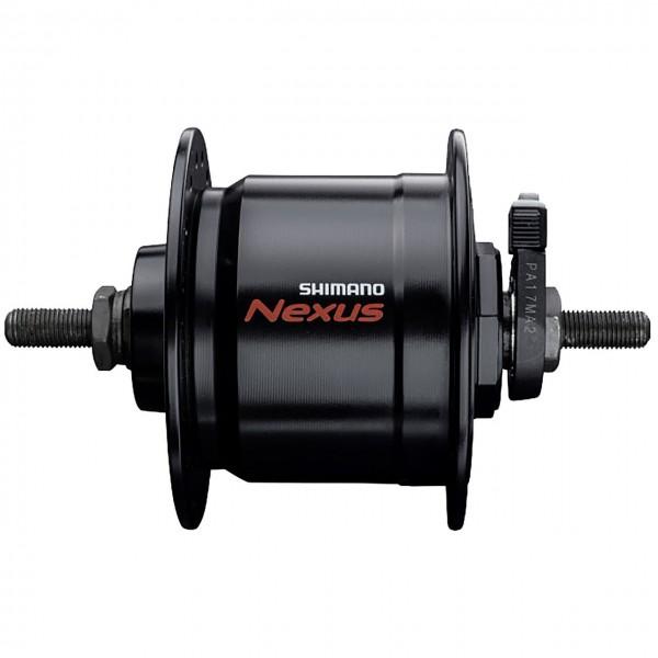 01107 Nabendynamo DH C3000, 32 Loch, 6 V - 3 W, Shimano, VA, 100 mm, schwarz