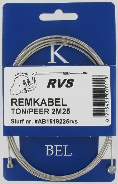 09242 Brems-Innenzug, 2250 mm, Universal Tonne & Birne, Nirosta