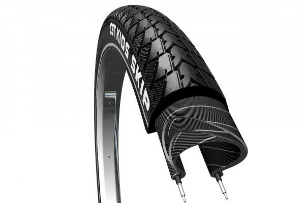 "02211 Fahrraddecke 20"", 20 x 1.75 (47-406), Skip-Profil C1446, Reflexstreifen, schwarz"