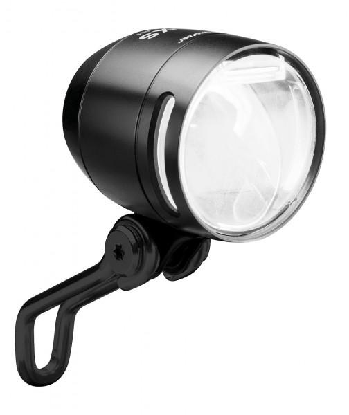 01278 LED Scheinwerfer IQ-XS, 70 Lux, für E-Bike DC 24 V, Licht24, ALU, schwarz