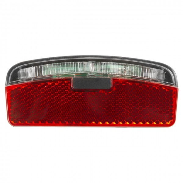 01323 LED Rücklicht, 80 mm, Gepäckträgermontage, Doppelanschluss, Z-Reflektor, deutsches Prüfzeichen