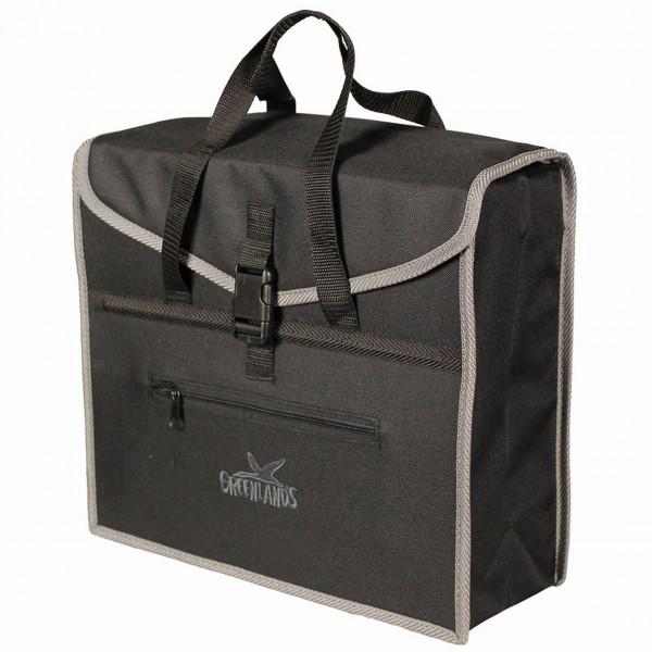 13580 HR-Einzelpacktasche, 19 Liter, mit Aussentasche, wasserdicht, schwarz-grau