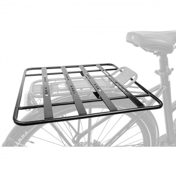 06121 Gepäckträgerplatte, 40 x 40, Alu, Gepäckträgervergrößerung, Racky Baseplate, schwarz