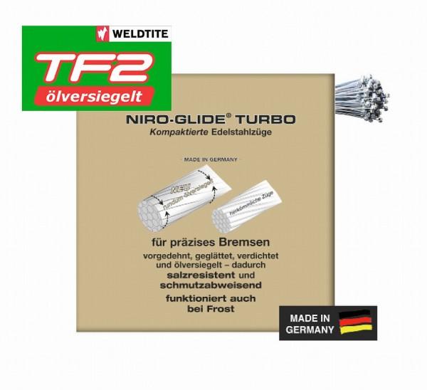 09207 Brems-Innenzug, Niro-Glide TURBO (TF2 ölversiegelt), 800 mm, Tonnen/ Walzen-Nippel, Edelstahl,