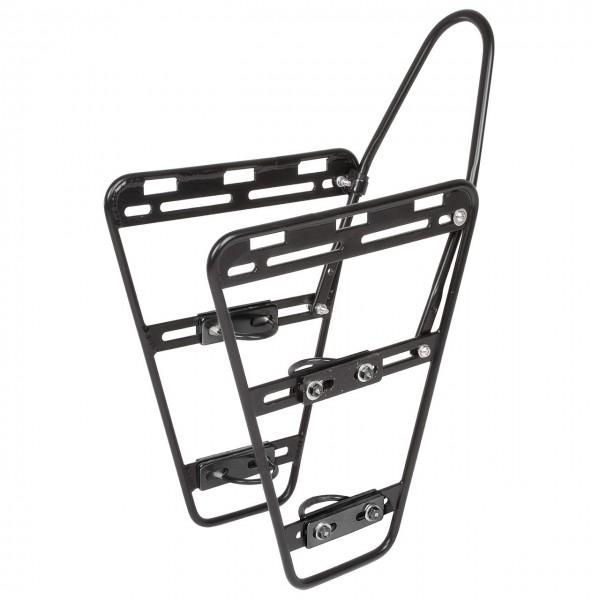 06158 Vorderradgepäckträger LOWRIDER, Aluminium, Universal-Befestigung, schwarz