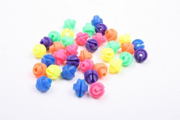 01627 Speichen-Klicker, Speichenperlen, Perlenform, farblich sortiert