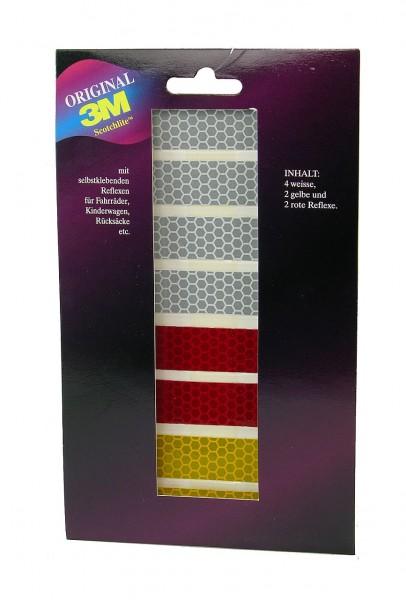 01744 Reflektierende Aufkleber, 8 Stück, 3M Scotchlite, farblich sortiert
