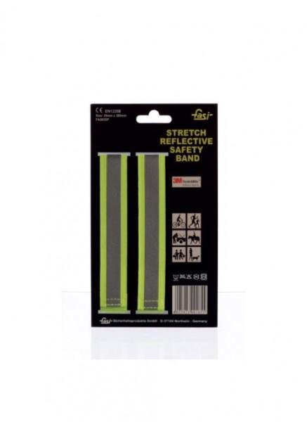 01712 Stretch-Reflexband, Hosen-/ Armband, universell einsetzbar, gelb