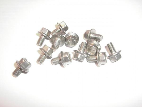 26104 Sechskantschraube M5 mit Flansch, ohne Sperrverzahnung, Edelstahl A2, M5 x 8/ 15 mm