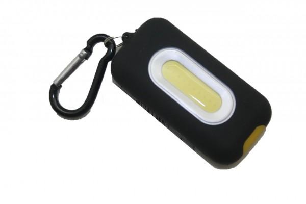 25644 Schlüsselanhänger COB Profi, LED, für Batteriebetrieb, incl. Karabiner, 110 Lumen, schwarz
