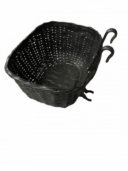 14112 witterungsbeständiger Fahrradkorb, zum einhängen am Lenker, incl. Halter, schwarz